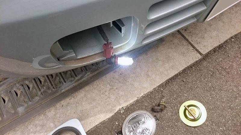 純正フォグランプ改良(LED化、スイッチ変更)