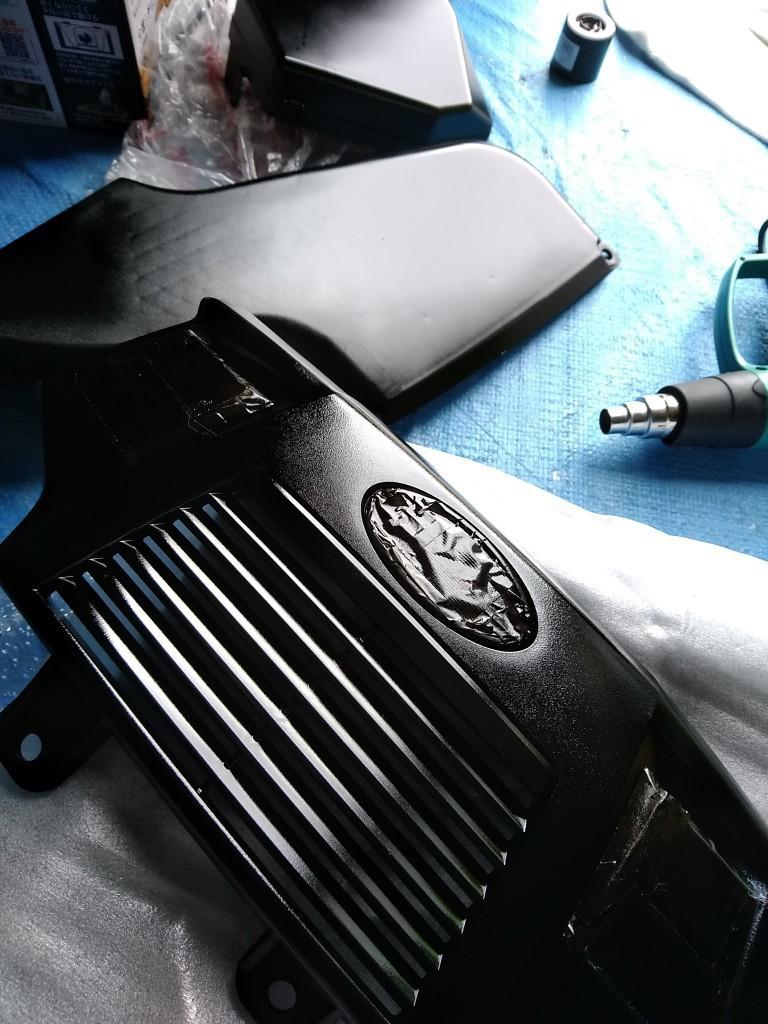エンジンルーム黒塗装