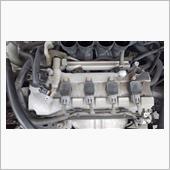 日本特殊陶業 Premium RX LFR6ARX-11P への交換です。<br /> <br /> エアクリの交換もありましたので一気にバラします。ここまでバラすと、普通のFFの4気筒エンジンの見た目ですねー。