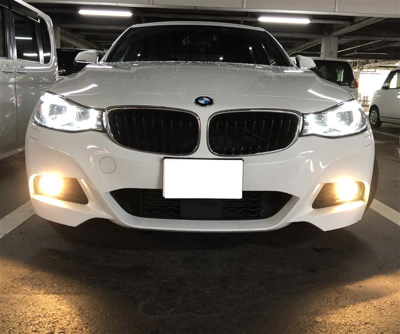 BMW LED フォグ 2色切り替え バルブに交換