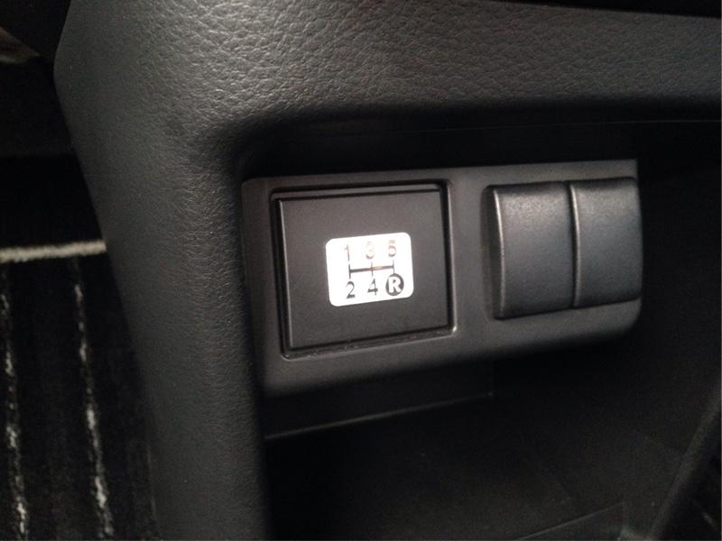 トヨタ・レクサス(純正) IS300 5速マニュアル用 シフトパターンプレート 貼り付け
