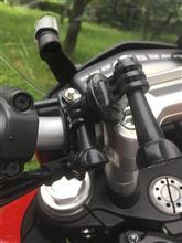 ハイパーストラーダ バイクにナビ取付のカスタム手順1