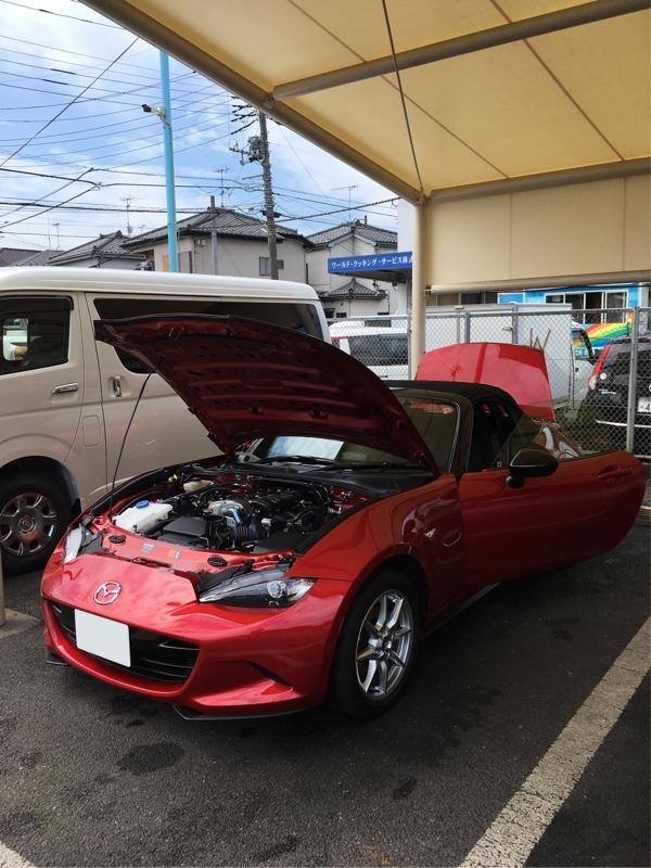 台風一過で駆け付け洗車