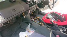 インプレッサ スポーツワゴン WRX ナビ載せ換えのカスタム手順1