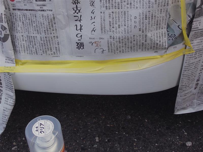 バンパーガリ傷補修(手抜き缶スプレー