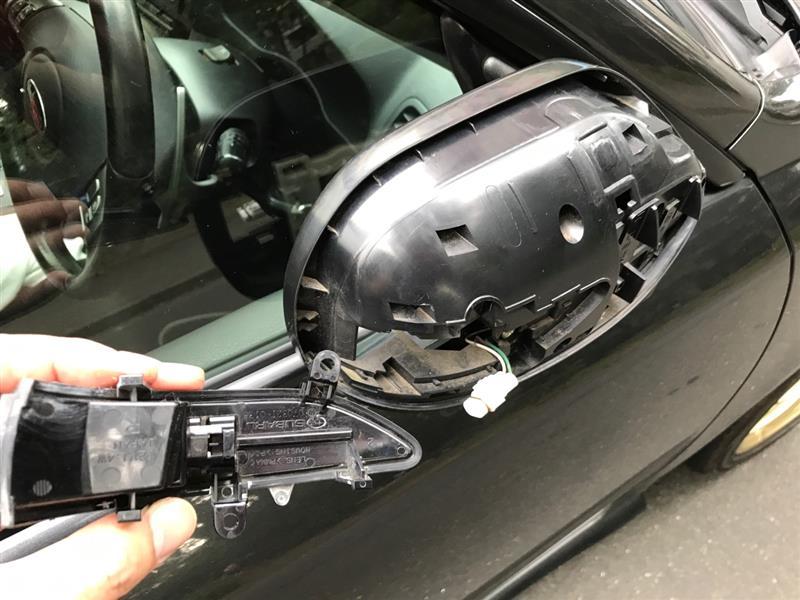 ドアミラーのミラー、カバー、ウインカーの交換方法