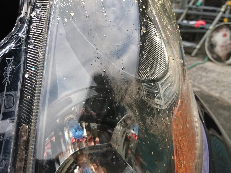 ヘッドライトレンズ磨きとコーティング♪そしてまた悪い癖が・・・(^_^;)