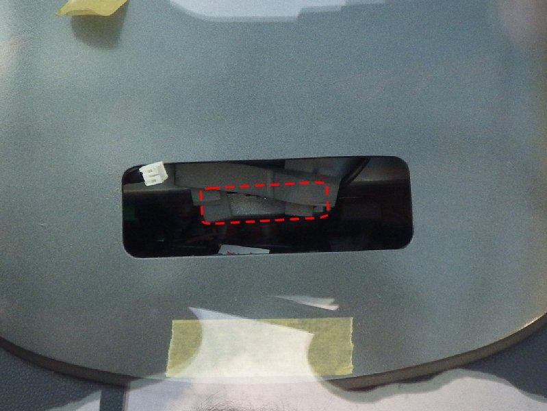 ナビの冷却用に、換気穴を追加工