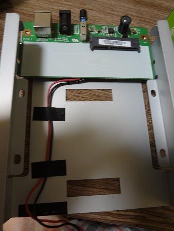 USB-HDDの内蔵ドライブ交換