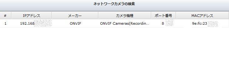 IPカメラの設定