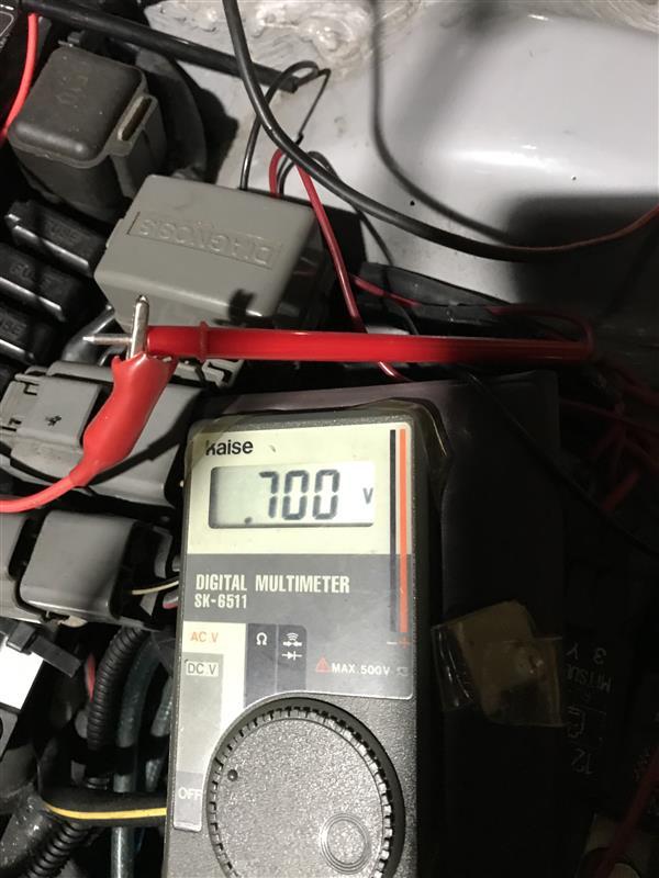 純正スロットルセンサーの調整、特性確認