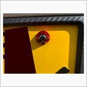 先端に貼るシールも付いて盗難防止にも。<br /> 鮮やかな赤とカーボンシールの色合いが良いです!