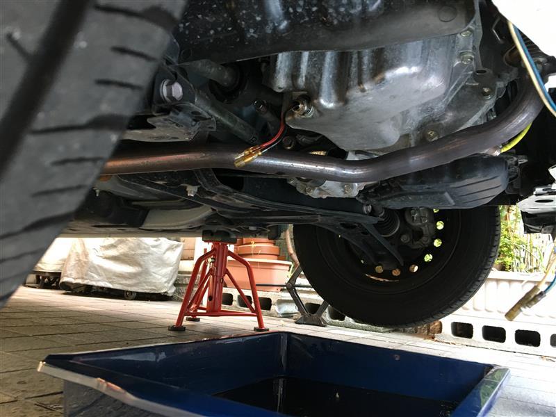 オイル交換+タイヤローテーション