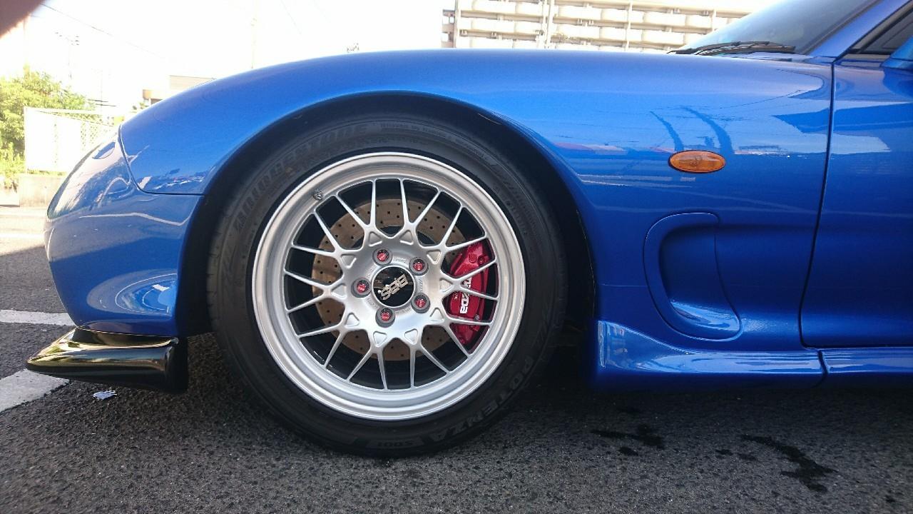 ブレーキ残量 (F:10.0ミリ /R:10.0ミリ)<br /> <br />  タイヤ溝残量 (F:7.5ミリ / R:7.5ミリ)<br />  空気圧 (F:2.3キロ /R:2.3キロ)