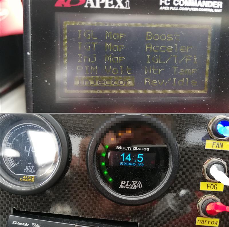 直近日作業<br /> ⑨ O2コントロールをYESに切り替え<br /> ⑩ P-FCでINJ噴射率を91~93%に下げる<br />  アイドルのPLX値:14.1~14.3くらいになるはず<br /> ⑪ エアクリーナー撤去<br /> 事前に下ボルト2本を緩め外しておき、当日検査場で上ボルト2本を外す。(下ボルトは熱くてアプローチしにくい)<br /> ⑫ 適当な工具を積載<br /> ⑬ バッテリー補充電<br /> ⑭ できればトー調整<br />  (片側7,8mmならトー調整しなくても直進時のハンドル位置を記憶してればOK)<br />  (サイドスリップ検査時はハンドルを握って動かさない。ゆっくり通過すること)<br />  (キャンバー角度は検査に無関係。ハンドルをこじらない限り、鬼キャンでも通るはず)