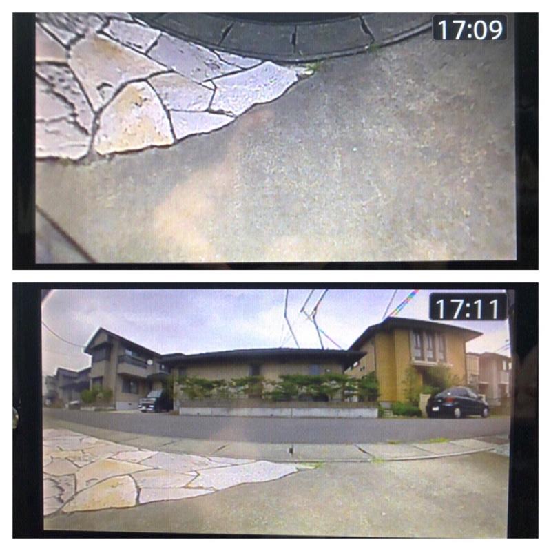 フロントカメラ取り付け(データシステムMVC811)