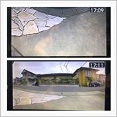 ◼︎トップビュー<br /> 車両前方の真下映像。<br /> 前進駐車は基本しませんが、前進駐車指定スペースの場合に、縁石確認等に役立ちそうです。<br /> <br /> ◼︎120° ノーマル表示<br /> ノーマル表示なので、距離感がつかみやすい画像ですが、真横までは見えません。<br /> エンジンスタート時の前方確認では良いかと思います。