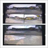 ◼︎スーパーワイドビュー、コーナービュー<br /> 180°ワイドビュー、フロントライト、フロントレフトの拡大画像の3分割表示。<br /> 3分割表示だと、7インチモニターの場合、ちょっと小さくて見づらいです。<br /> 左右の画像も少し歪みます。<br /> <br /> ◼︎スーパーワイドビュー、トップビュー<br /> 180°スーパーワイドビューと車両前方の真下画像の2分割表示。<br /> 2分割表示なので、画面が小さくなりますが、充分使用可能範囲だと思います。