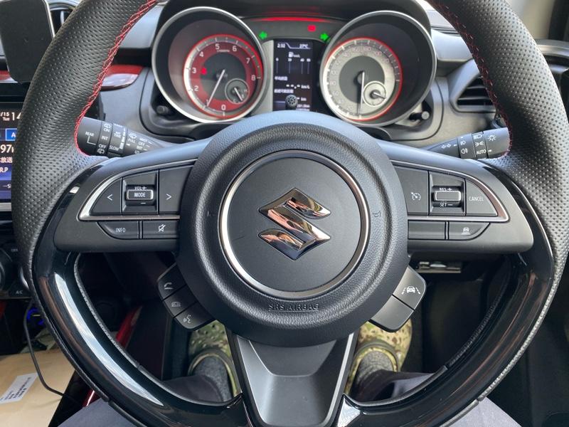 くるめや 4Dブラック カーボン調ステアリング カスタマイズステッカー