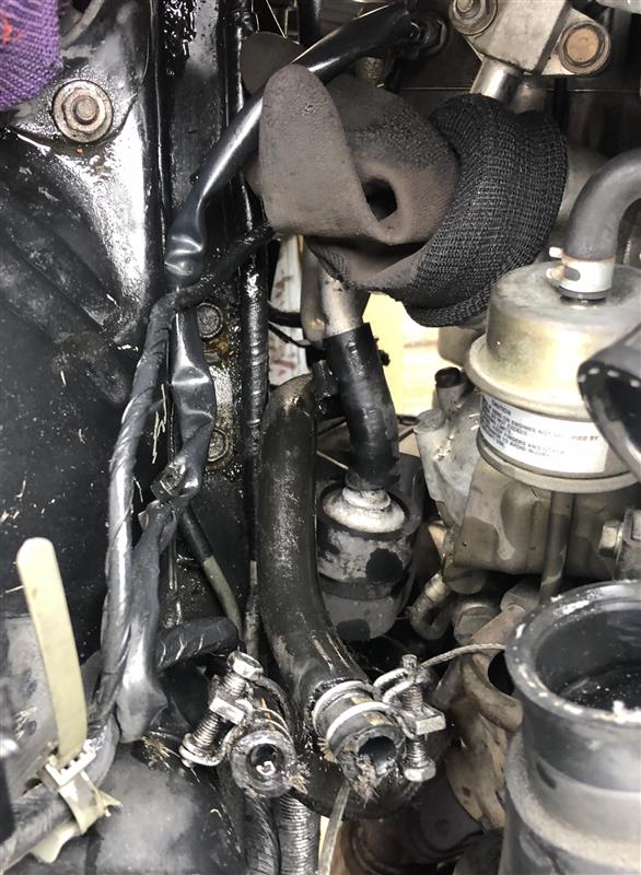 パワステオイル漏れ修理