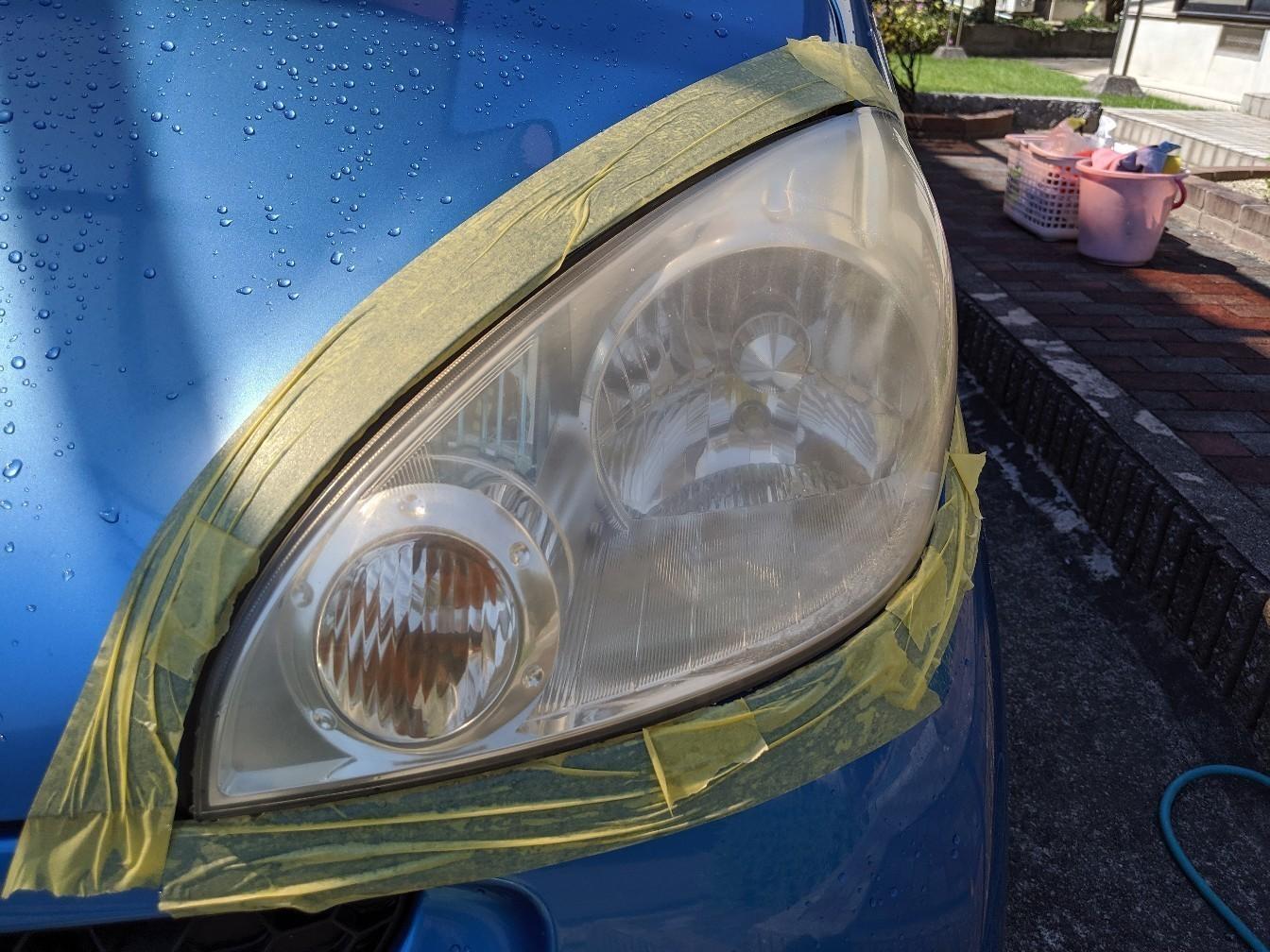 ヘッドライト ウレタンクリア塗装