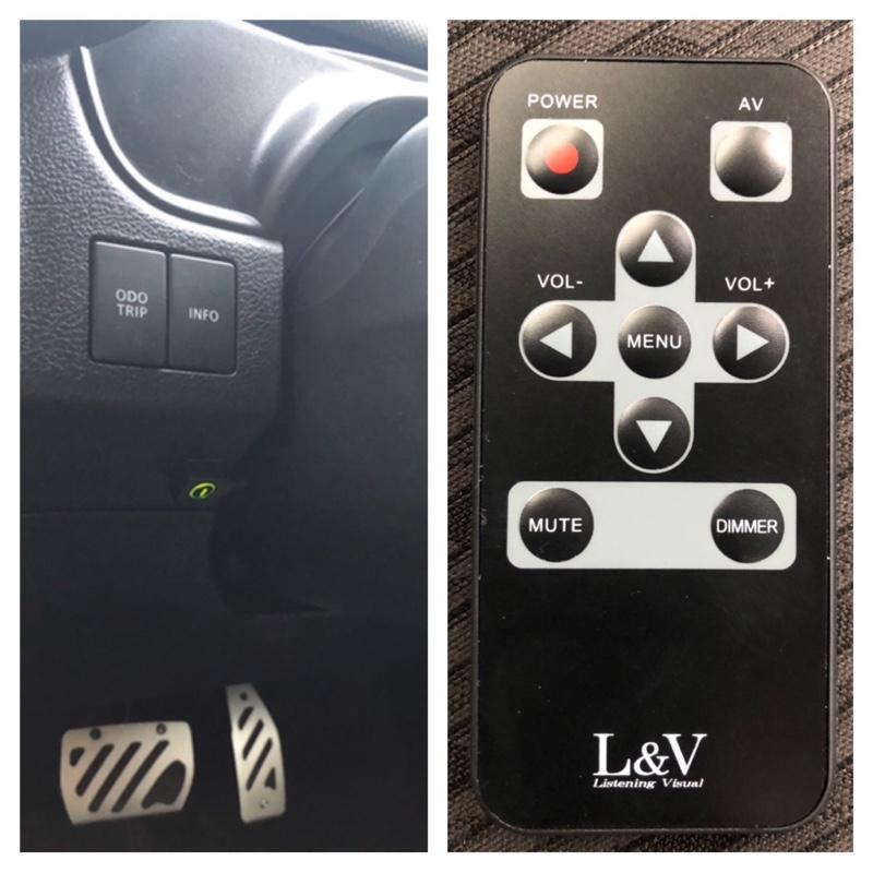 L&V 609MM 6inch wide VGA ミラーモニター取り付け