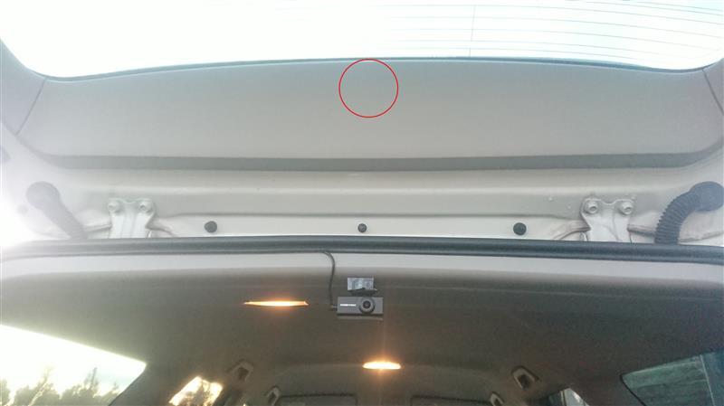 ドライブレコーダー取付(仮位置でと)