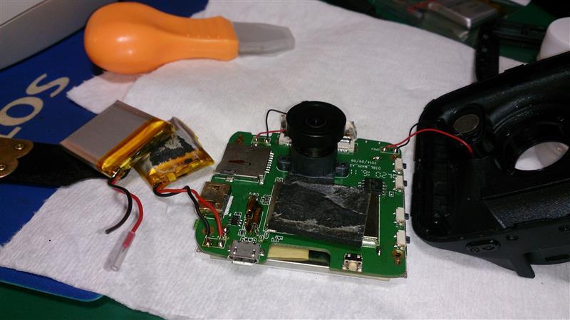 ドラレコのバッテリー交換