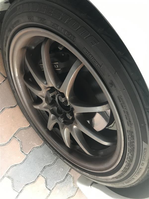 (GC8)タイヤ交換 ブリジストンポテンザRE050 215  45  17 新品
