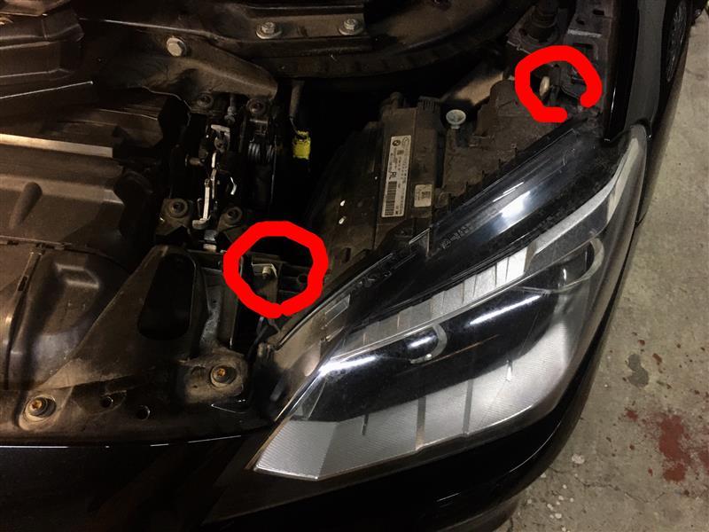 F06 BMW アダプティブLEDヘッドライト 交換 F12 F13 脱着