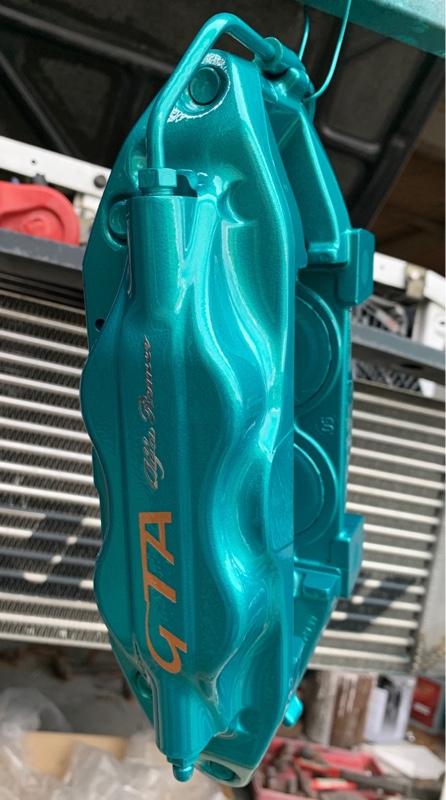 147GTA ドライブシャフトブーツ・ブレーキホース交換+キャリパー塗装(キャリパー塗装編)❷