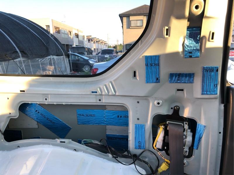 JB23 3型 防振 防音 断熱 対策!その3 防振材施工