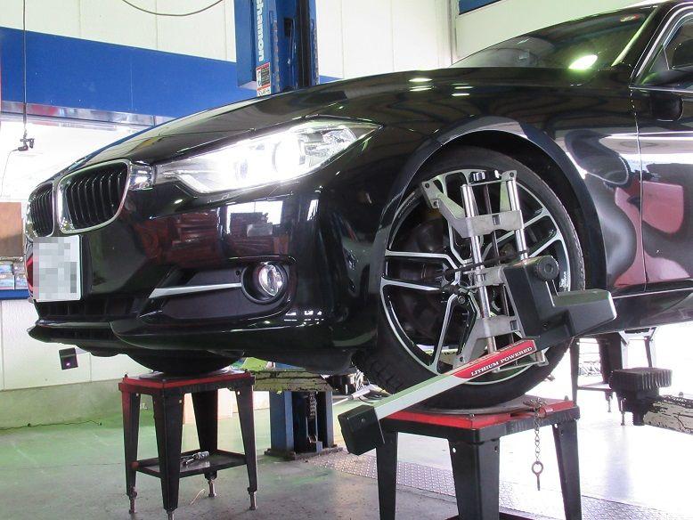トータルアライメント調整...BMW F30 320d ビルシュタインB12サスキット