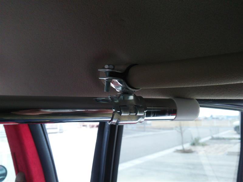 車内に万能パイプ設置!