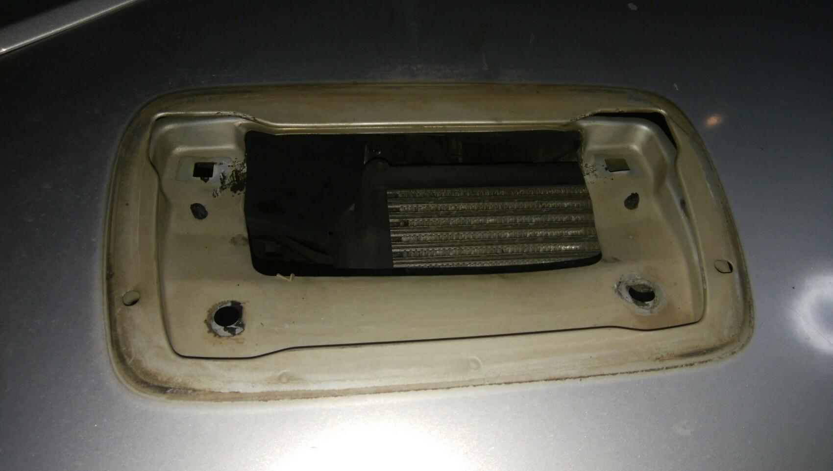 GD3フィット純正ナビを叩き込んでみた。L900ターボ用ダクトをムリヤリ叩きこんでみた