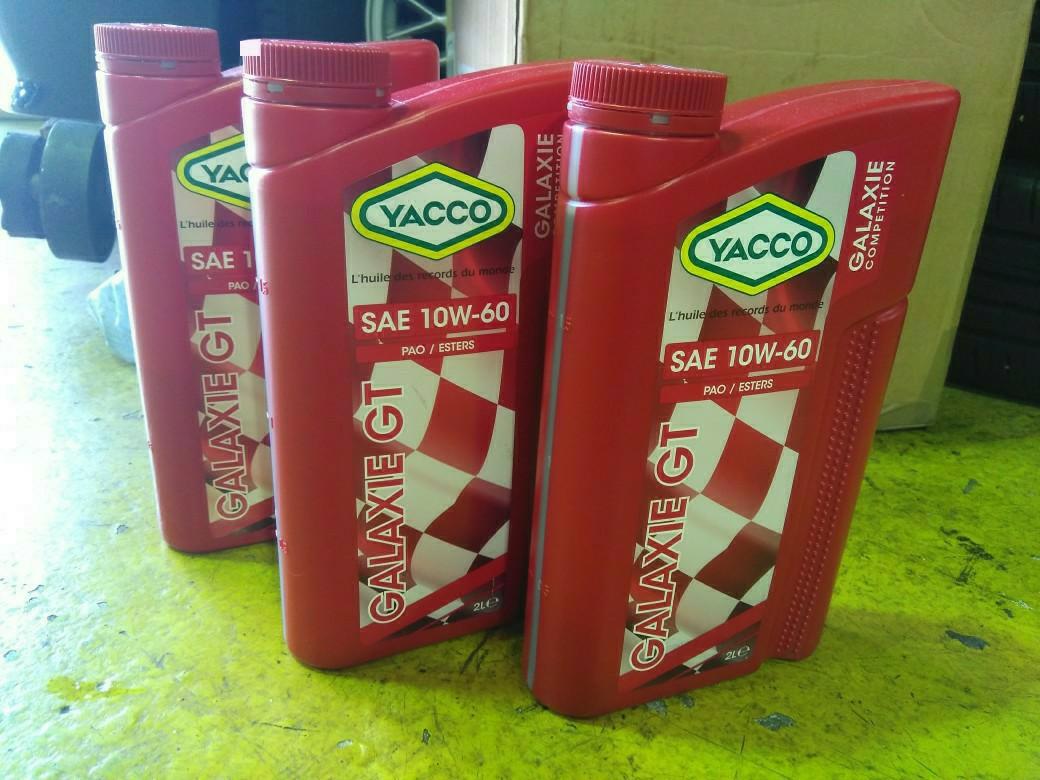 エンジンオイル YACCO GTで交換