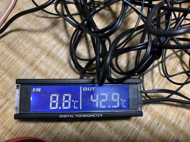 電波時計外気Nike温度計電圧計