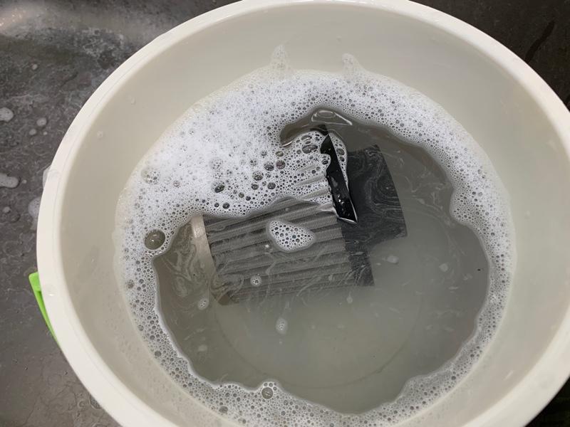 エアクリ洗浄。