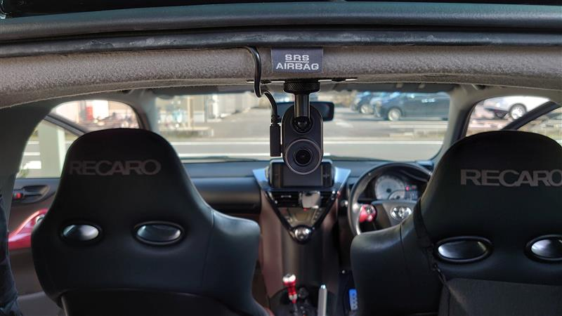 ドライブレコーダー取付