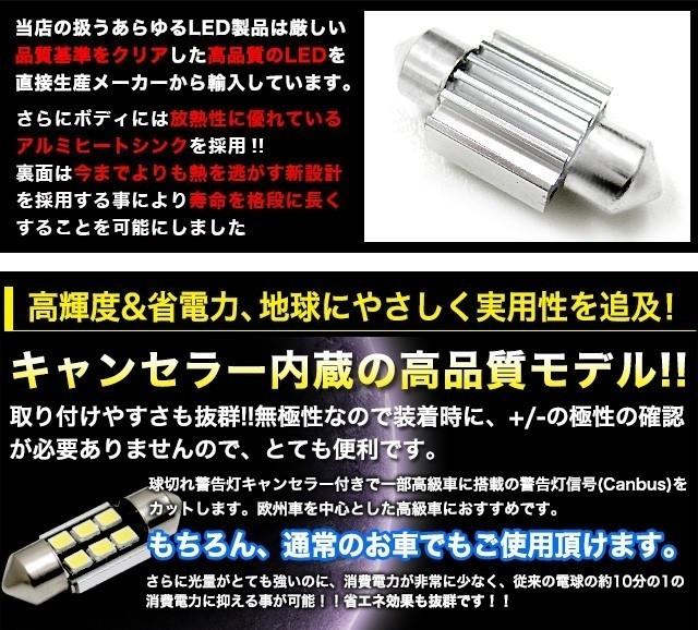 T10×31mm 高輝度CREE製LED3535チップ6発