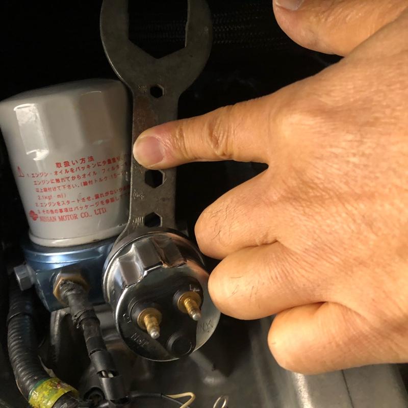 AG油圧センサー交換