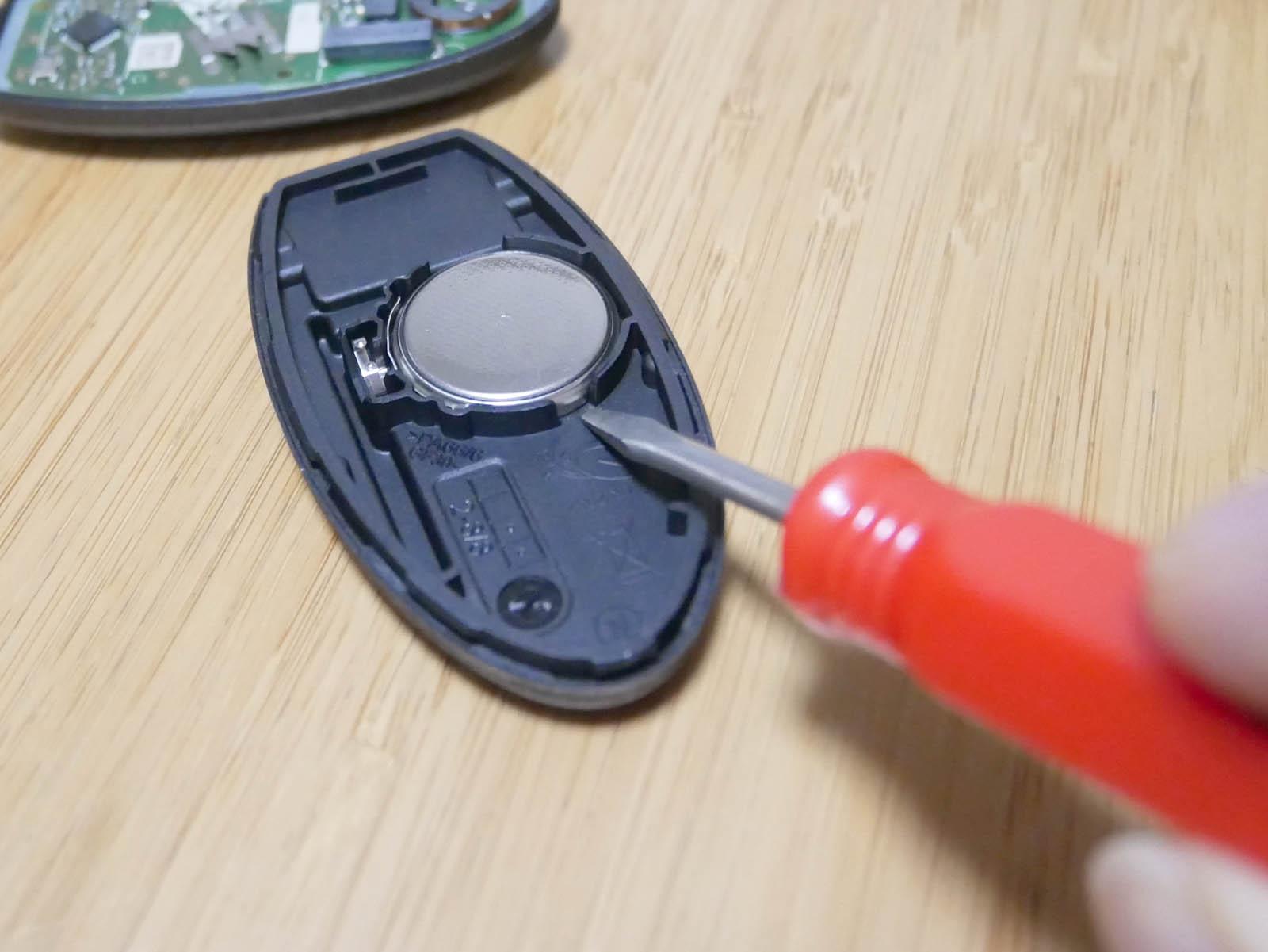 インテリジェントキー 電池交換