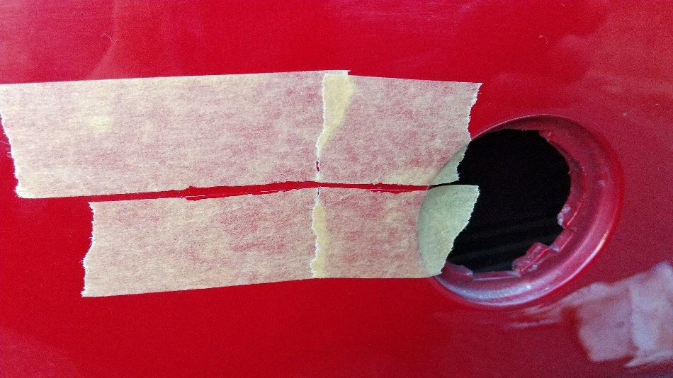 錆びた牽引フック塗装とバンパー小傷補修 2020.1.5