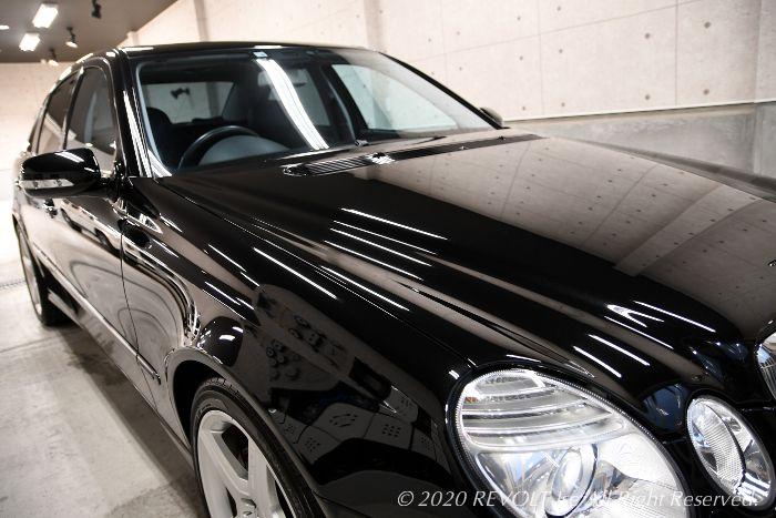 メルセデスベンツ・Eクラス(W211) E300のガラスコーティング【リボルト伊勢】