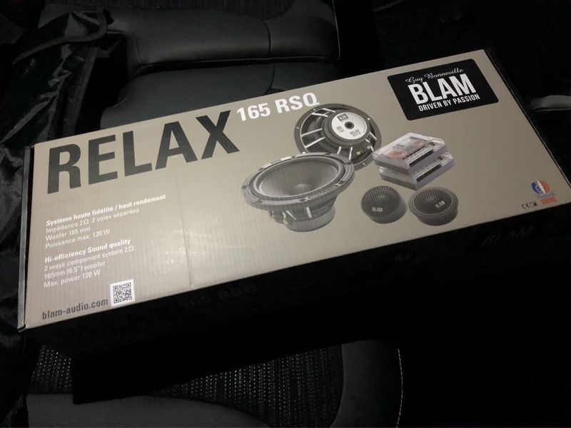 BLAM RELAX 165RSQ Passive取り付け