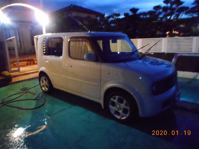 2020年1月19日 キューブの初洗車