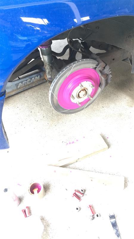 リアブレーキ17インチ変更と小細工