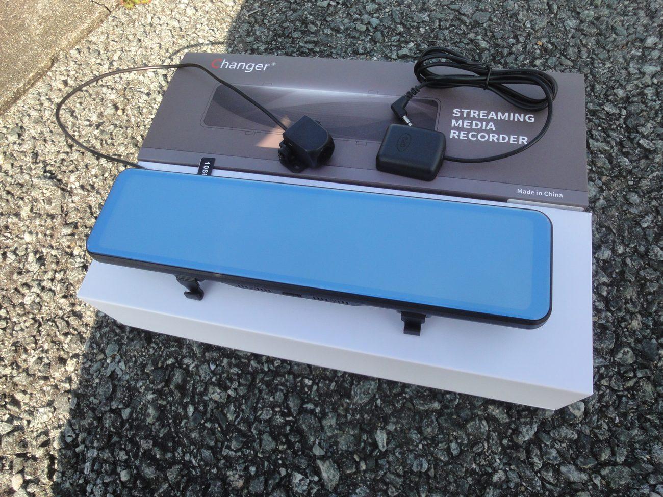 デジタルインナーミラー(ミラー型ドラレコ)の取り付け その1