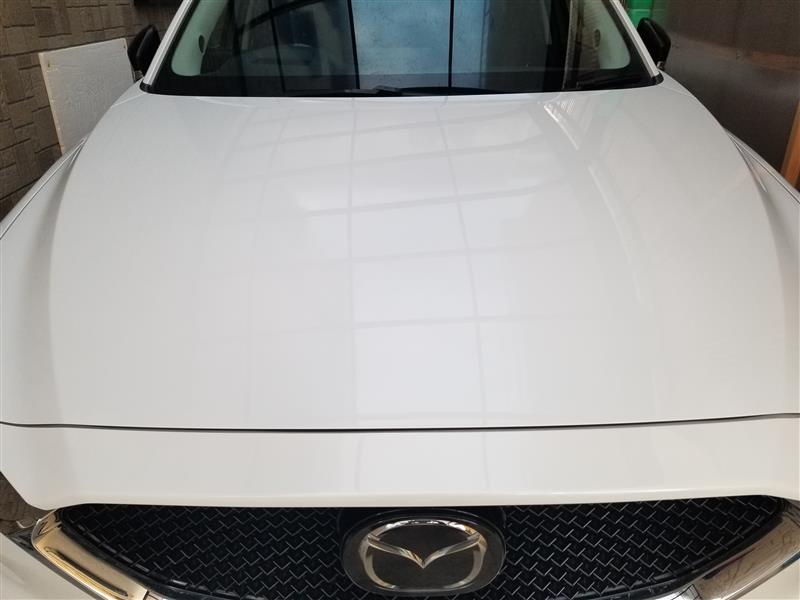 写真では、分かりづらいですが洗車傷もかなり目立たなくなりバリアスコートの艶も加わりいい感じです!
