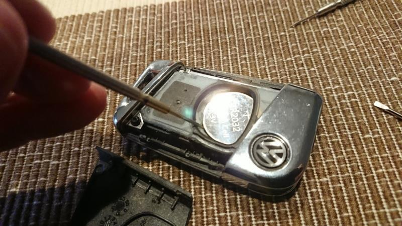 キーレスの電池交換